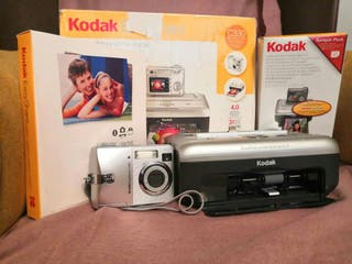 cámara digital de fotos con impresora