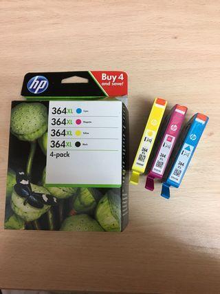 3 cartuchos impresora HP