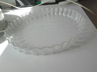 Fuente de cristal grande. pasteles....