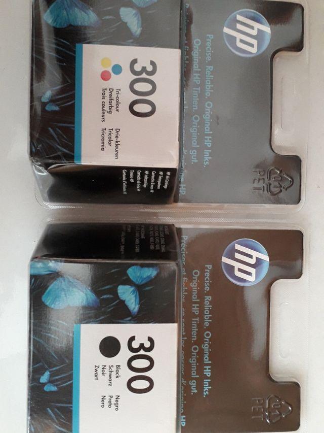Cartuchos HP 300 originales color+negro