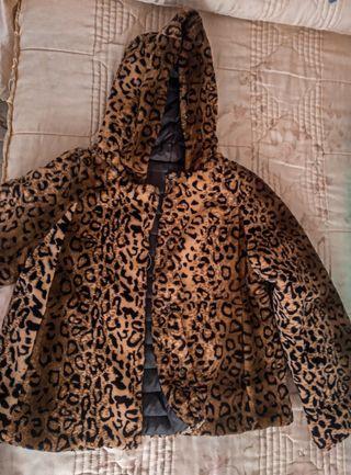 Chaqueta leopardo de piel