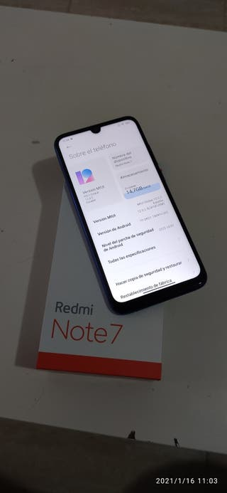 Xiaomi Redmi Note 7 4Gb+64Gb Azul