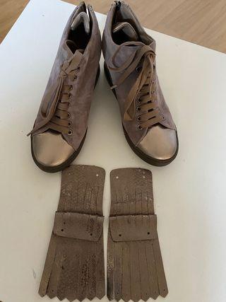Zapatillas con alza(cuña) italianas