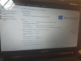 Netbook Acer aspire one Windows 10 con SSD 120 gb
