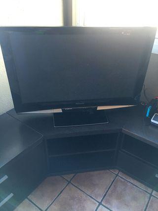 Mueble Esquinero TV madera maciza 3 modulos