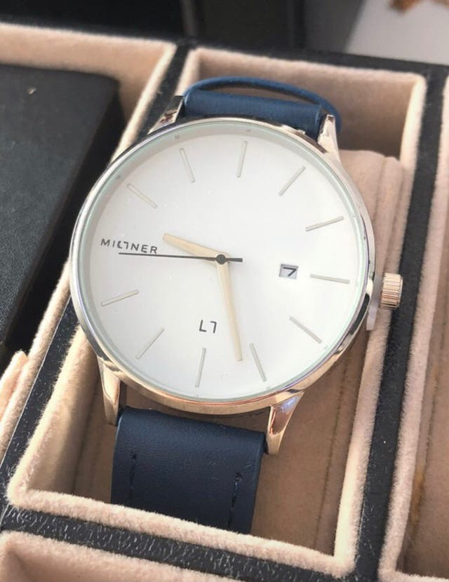 Reloj Millner Co Azul y Plateado