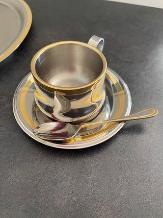Juego de café acero inoxidable