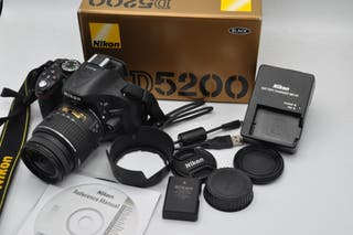 Nikon D5200 24MP obj 18-55 DX VR , con 4537 fotos,
