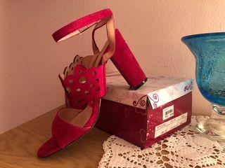 Zapatos de tacón fucsia T39