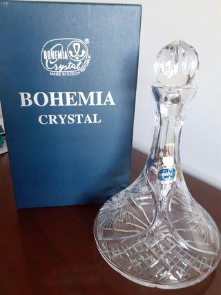 Licorera,Escanciador,cristal de BOHEMIA, Nuevo50