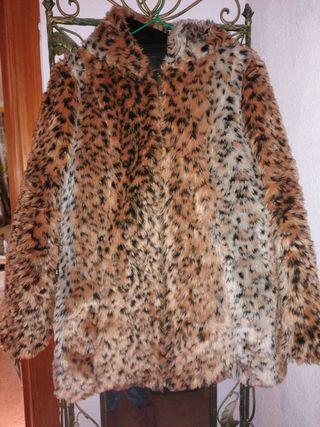 abrigo pelo leopardo Baluoke