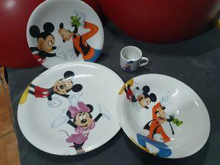 vajilla de Mickey mouse