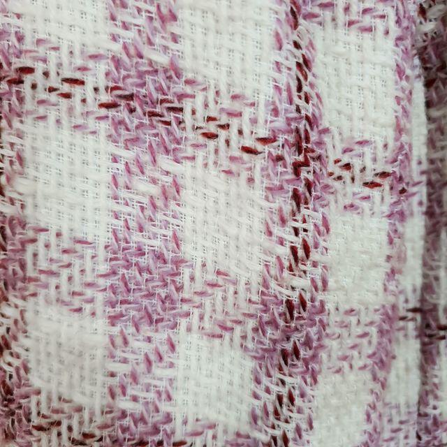 Chaqueta/americana cuadros Vichy blancos y rosas