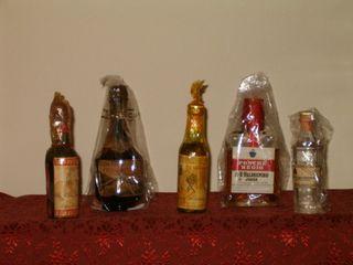 Miniaturas licores años 50
