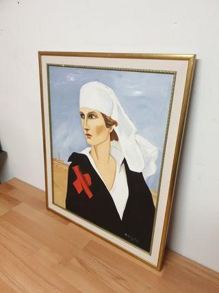 Retrato Enfermera Primera Guerra Mundial