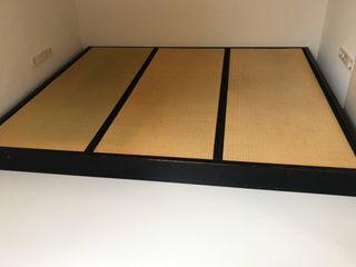 Cama japonesa con 3 tatamis 208x236x16cm