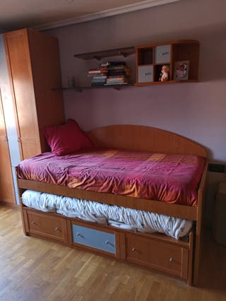 cama compacta con escritorio
