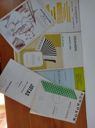 Partituras para acordeón de autores españoles