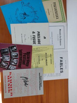 Partituras para acordeón autores alemanes, polaco