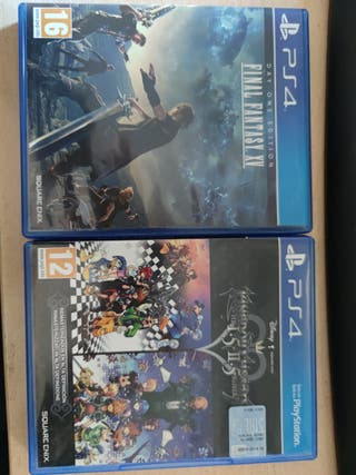 Final Fantasy XV y pack Kingdom Hearts ps4