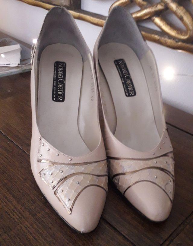 Zapatos vintage Roland Cartier nude impecables