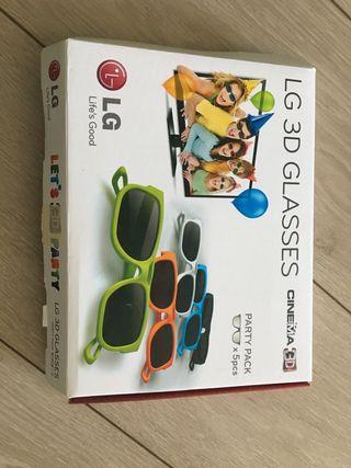 Gafas LG 3D sin usar