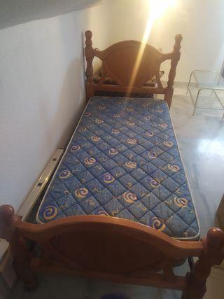 cama ( somier+patas+colchon+cabecero)
