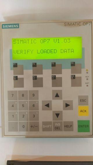 Panel control Siemens Simatic
