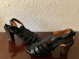 Zapato piel negro Massimo Dutti talla 36
