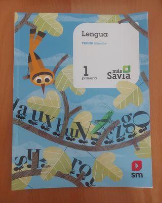 Libro Lengua Primero de Primaria SM Savia
