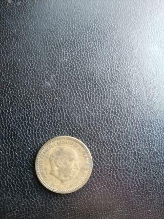 monedas de 1 peseta de franco