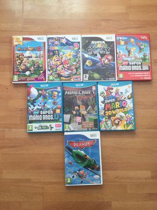Pack de videojuegos Wii y wii u