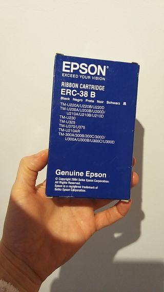 10 Cartuchos tinta negros par Epson ERC38B
