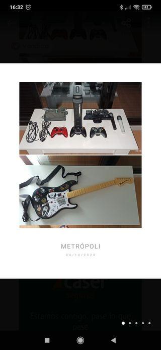 Xbox 360 + GuitarHero + Kinect + 2 micrófonos