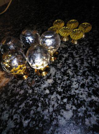 Tiradores Vintagede vinilo imitan vidrio