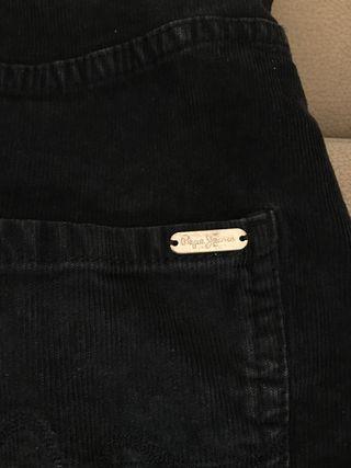 Falda con peto de pana fina Pepe Jeans nueva