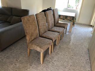 4x sillas de comedor de tela