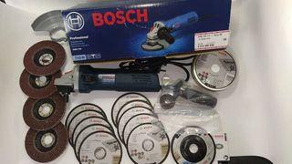 Amoladora Bosch profesional 750w + set