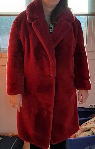 Abrigo mujer pelo rojo talla 42