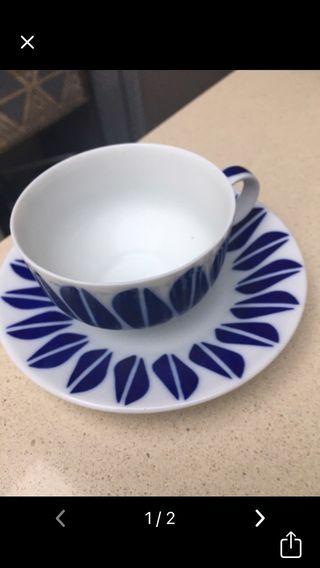 Taza e plato cafe Sargadelos