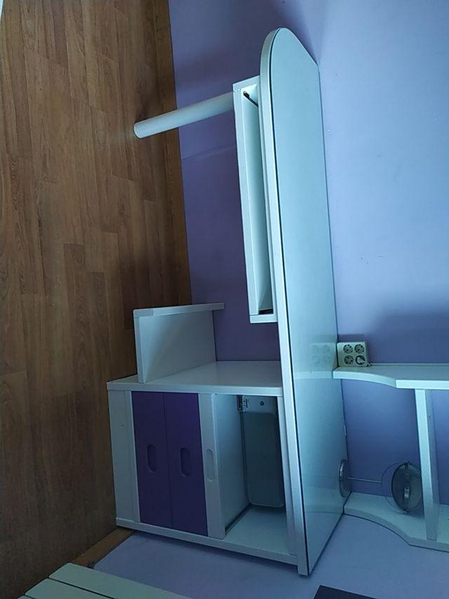 vendo habitación de madera lacada en blanco