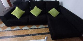Sofá con chaislongue