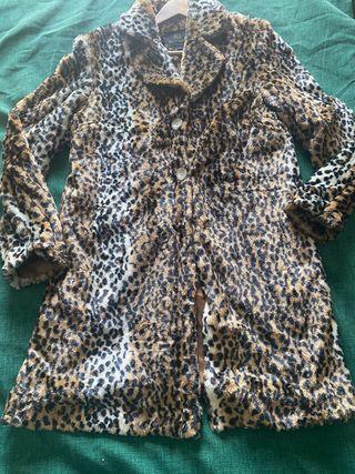 Abrigo piel Leopardo talla L