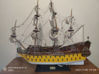 Maqueta artesanal velero histórico español, Furia