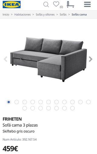Sofa cama chais longe Ikea