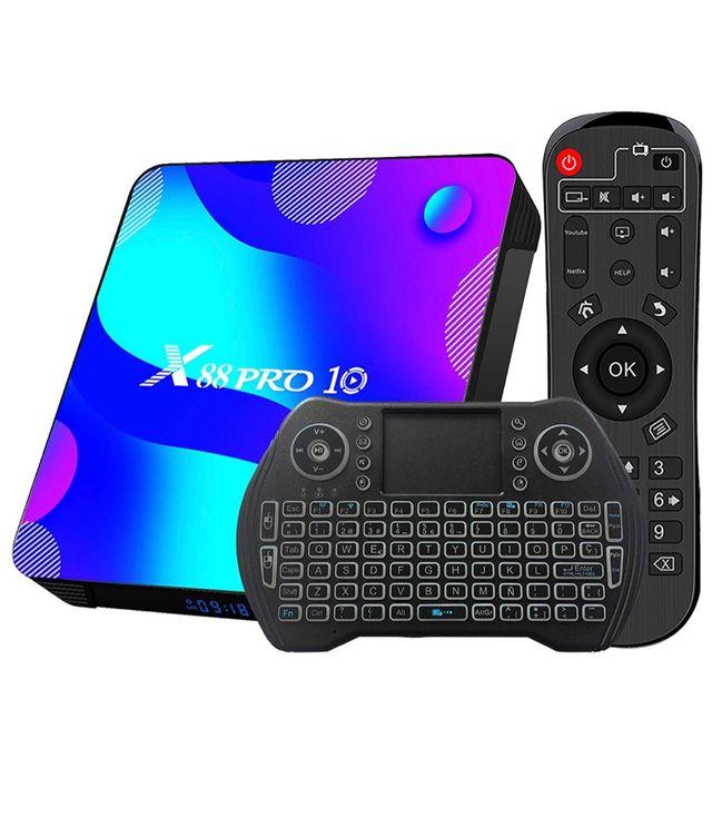 Tv box android 10.0 4gb 64GB +teclado regalo