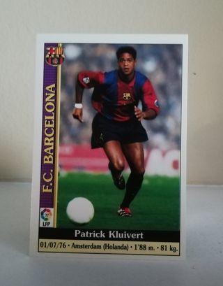 PATRICK KLUIVERT #17 FICHAS DE LA LIGA 1999/20