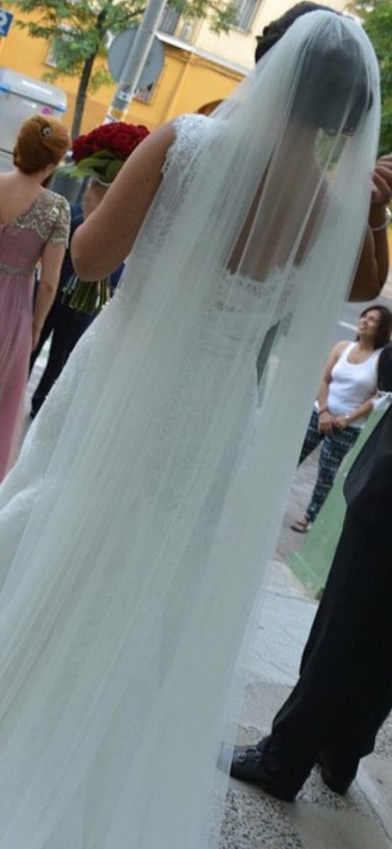 velo de novia cortado al láser