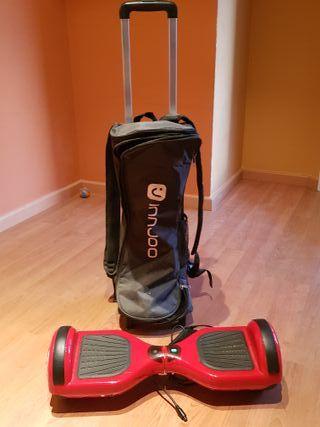 patinete electrico con mochila de transpprte