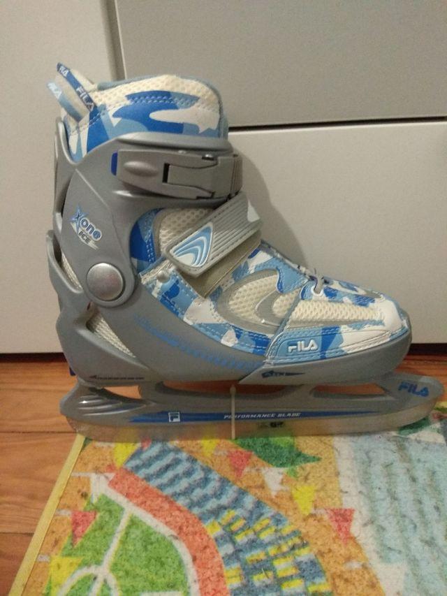 patines sobre hielo
